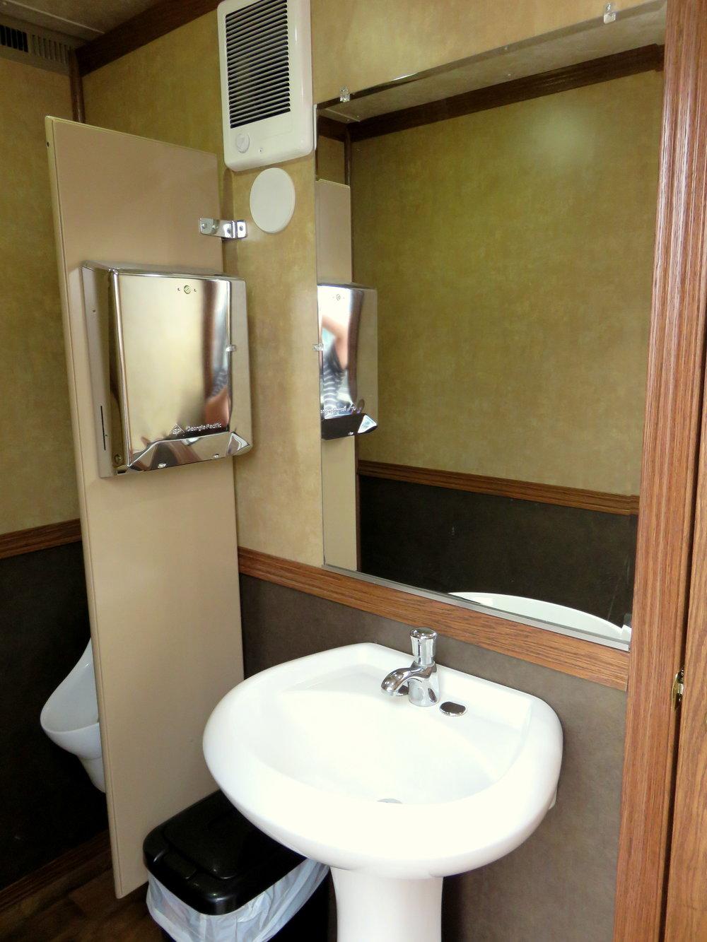 4 person restroom trailer