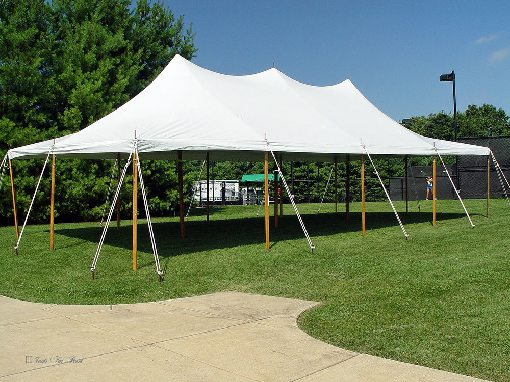 20x40 white graduation party tent
