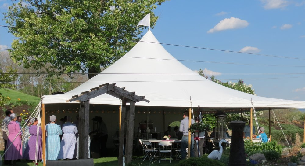 30x30 white graduation party tent
