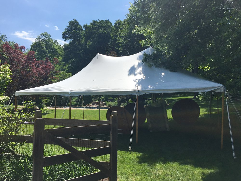 20x30 white graduation tent