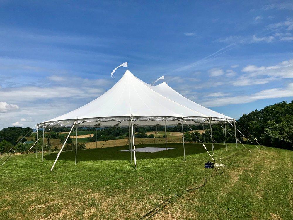 Outdoor wedding in a romantic tent