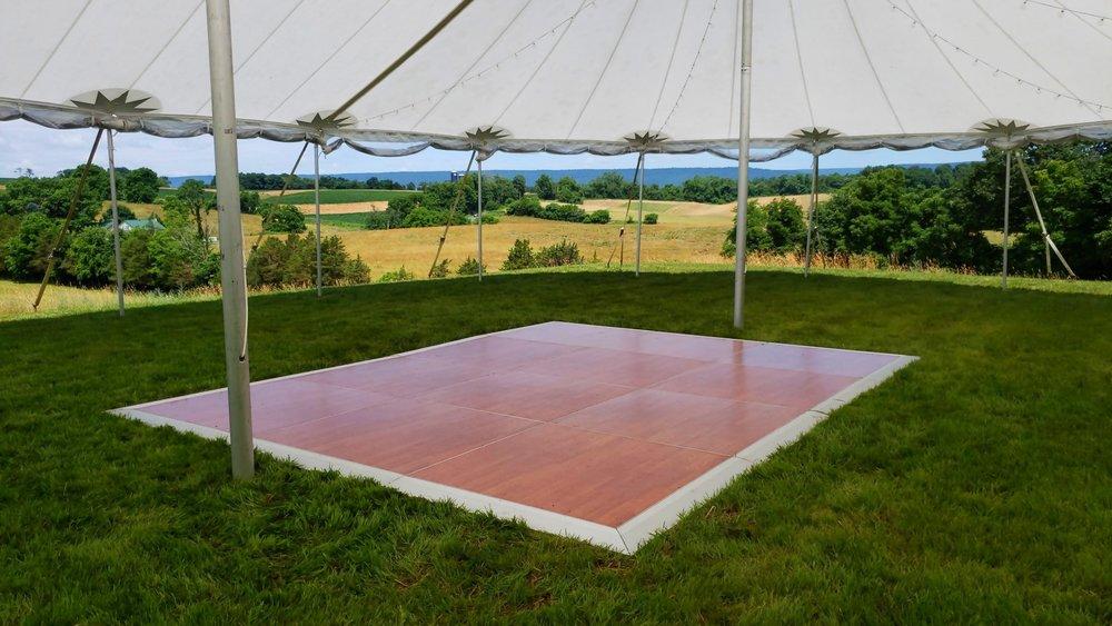 Dance floor under tent in Vineland, NJ