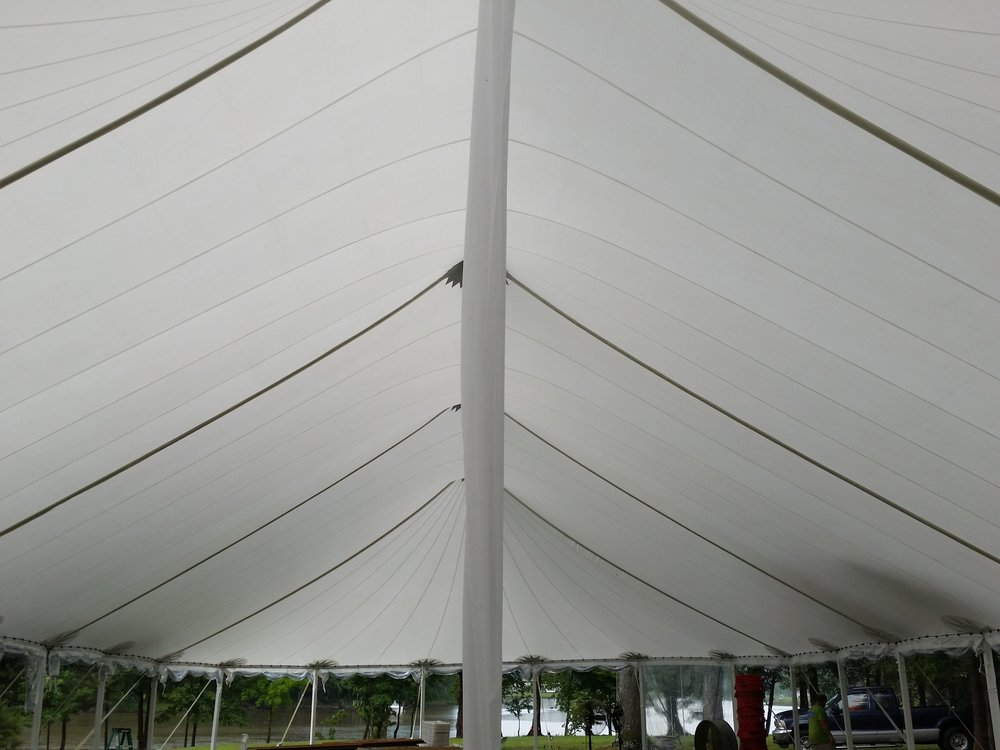Another option is white, plastic pole covers