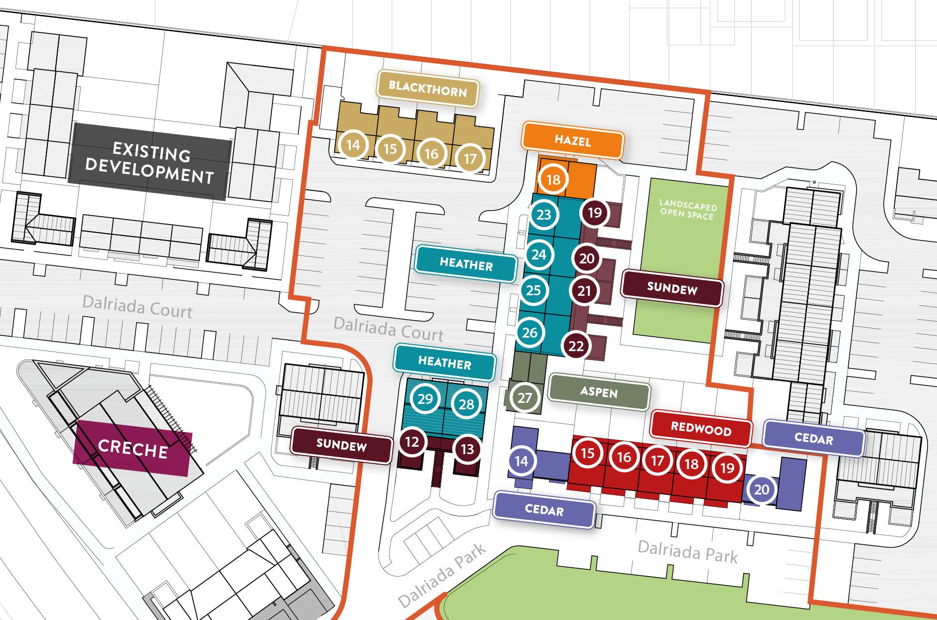 Site plan dalriada knocklyon for Floor plan website