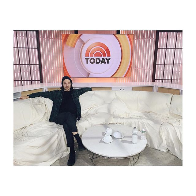 I'll be playing two songs live on the today show this morning and another on kelly and michael. I don't know what time, I'm tired as shit...😐 📺📺📺 #agreatbigworld