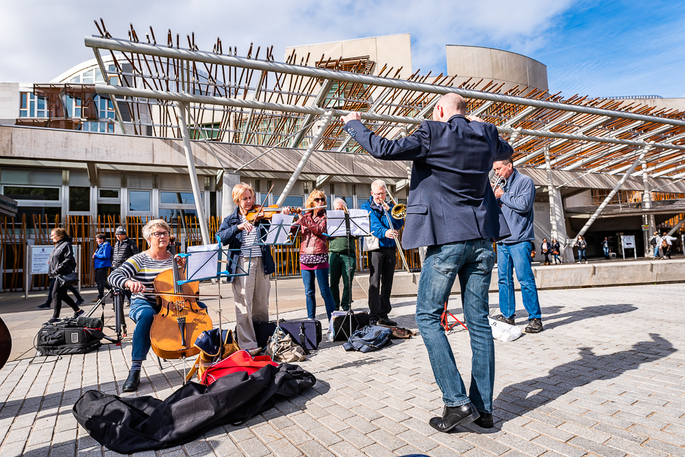 Pop Up Orchestra Protest • Scottish Parliament
