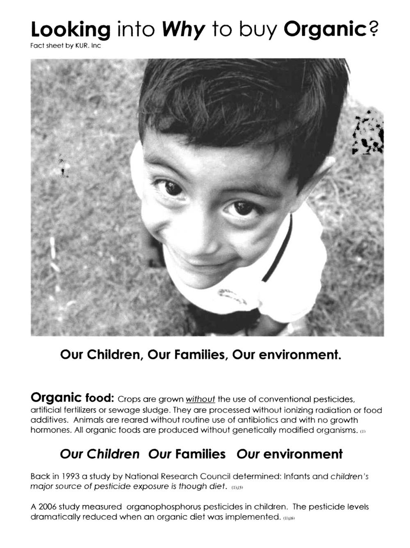 why buy organic b/w handout