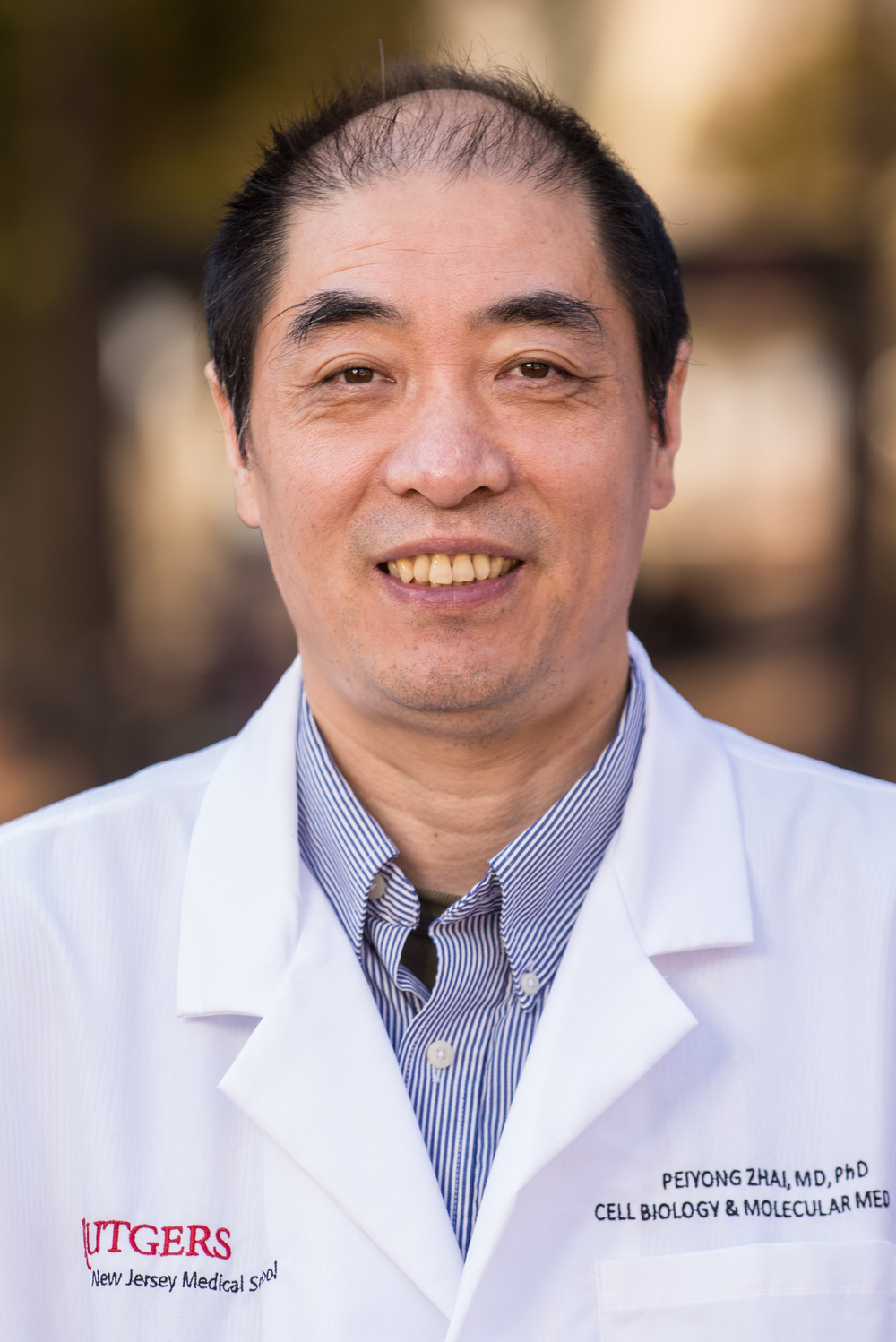 Peiyong Zhai, MD, PhD Email Peiyong 2013-present     Associate Professor, Rutgers NJMS   2007-2013         Assistant Professor, UMDNJ 2006-2007          Instructor,  UMDNJ 2003-2006          Research Associate, UMDN Research interests:  Angiotensin II signaling in cardiac hypertrophy