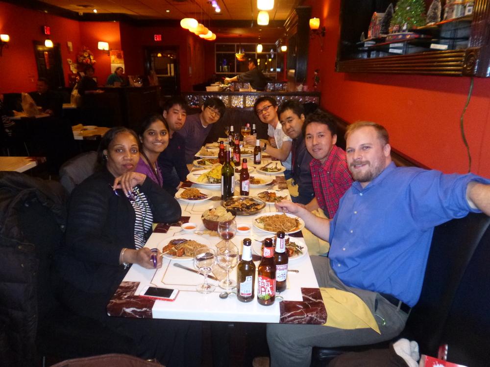 Aki's farewell dinner 2015