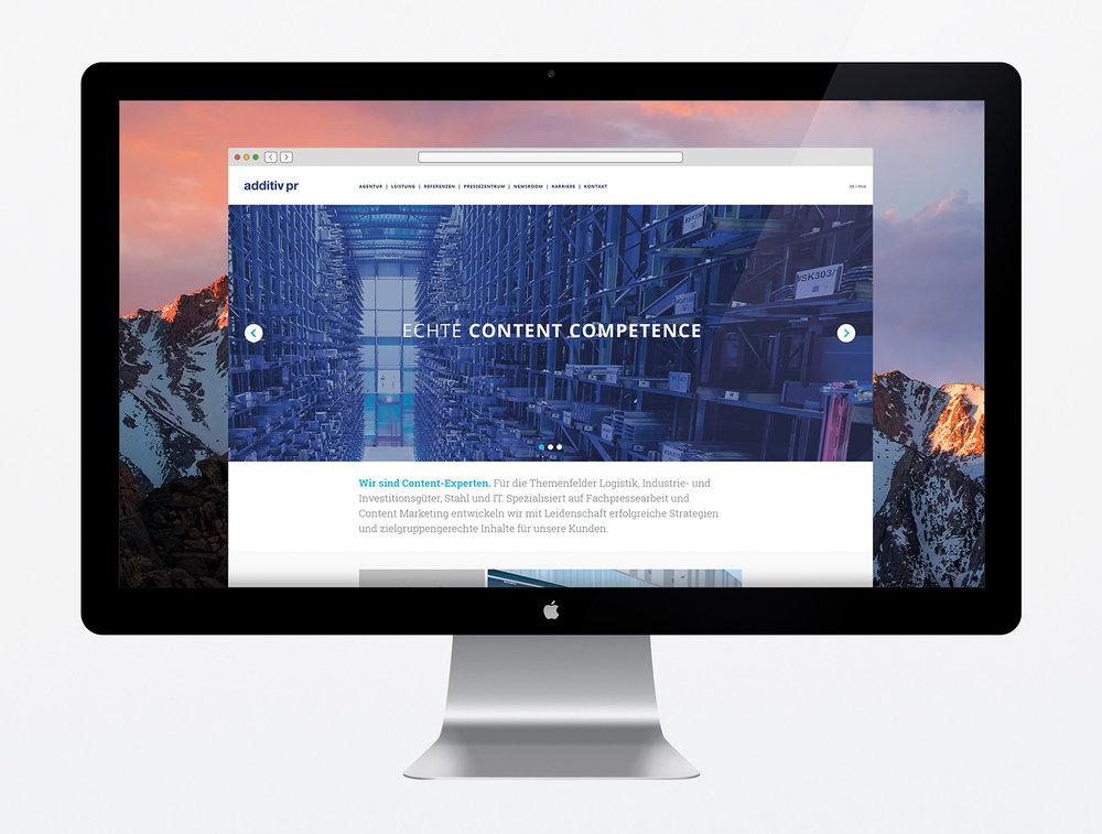 A new website for additiv pr.