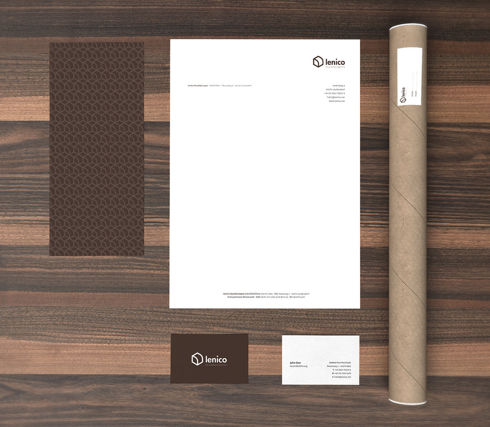 Stationery design for the brand.