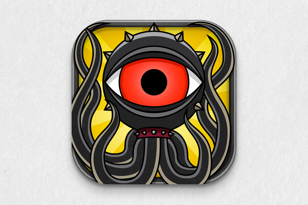 App icon for iOS for Grim Defender.