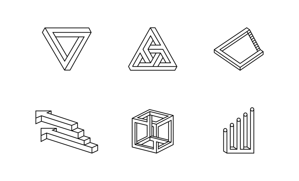 Icons which are based on the logo design.
