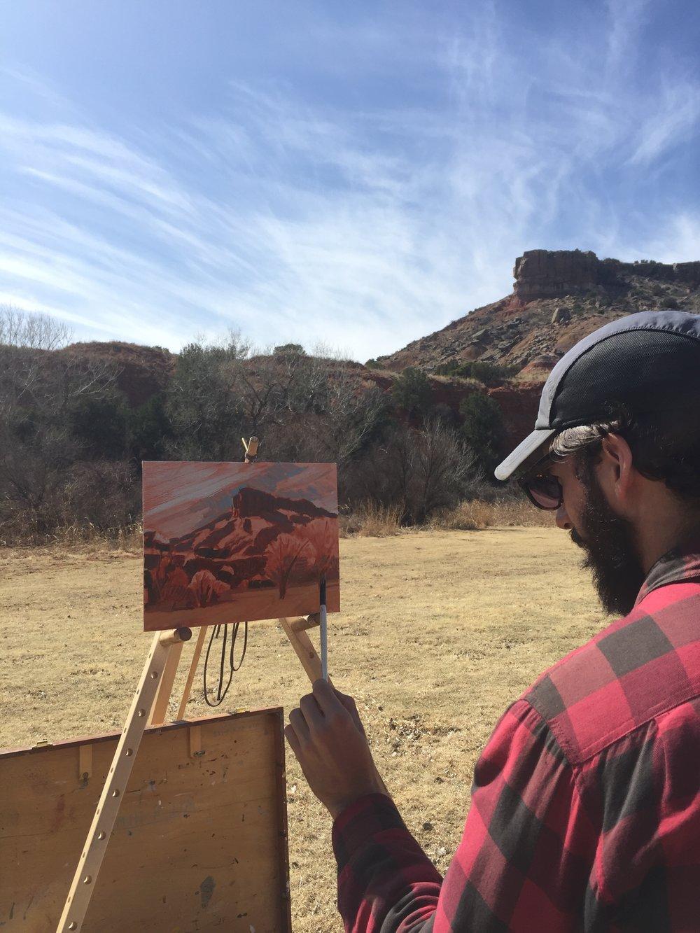 Painting Palo Duro Canyon