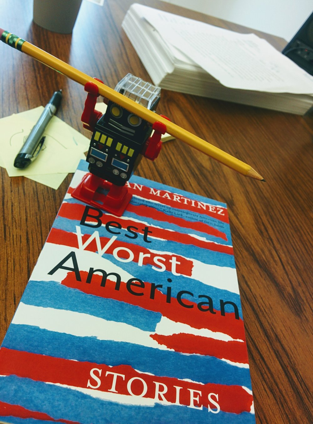 I'm so sorry for all the self-promotion! The robot says if I don't self-promote the h*ck out of this book he will do something unspeakable with this pencil. Blame the robot don't blame me. The robot demands that you buy 500 copies of my book thank you.