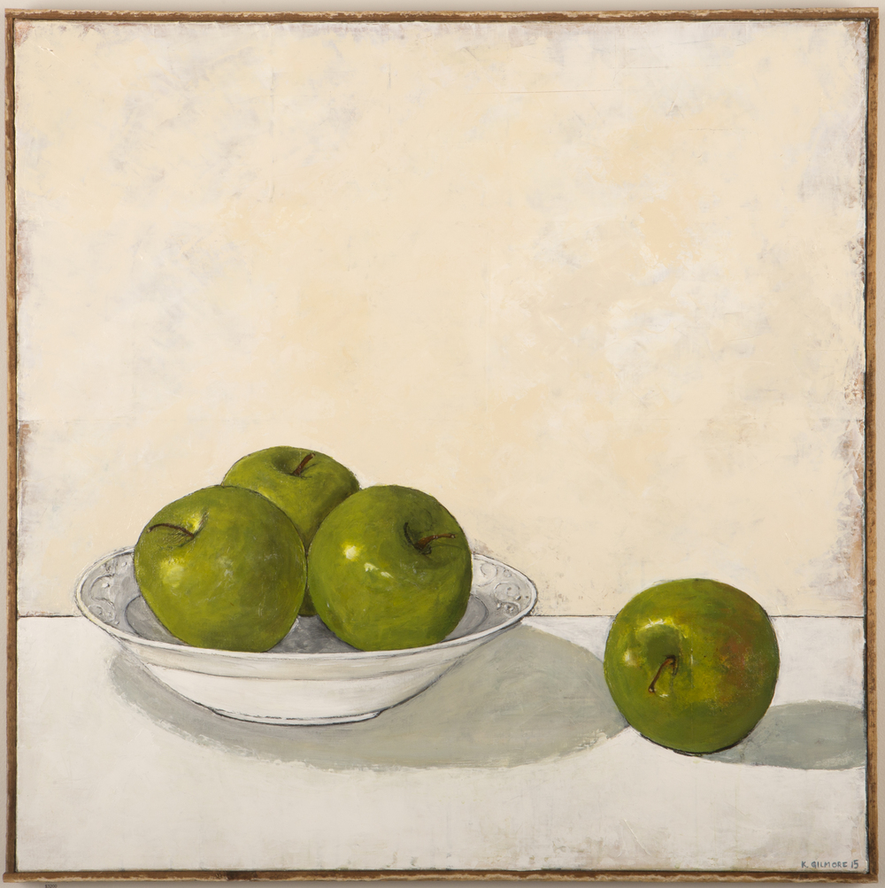 Four Apples And A Bowl