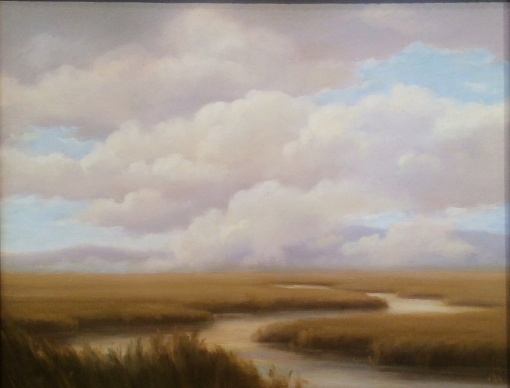 Clouds Lifting Off the Marshes