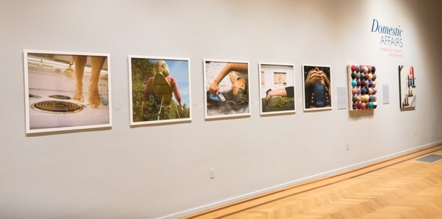 Nancy Grace Horton's photographs from her  Ms. Behavior  series on display at the Newport Art Museum as part of the Domestic Affairs exhibit.