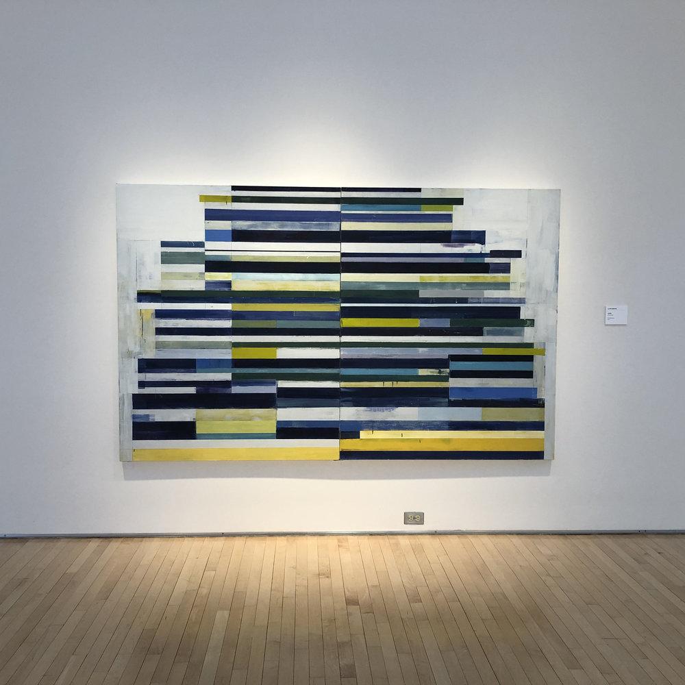 "Lloyd Martin Tower 2016, 60"" x 96"", oil on canvas"