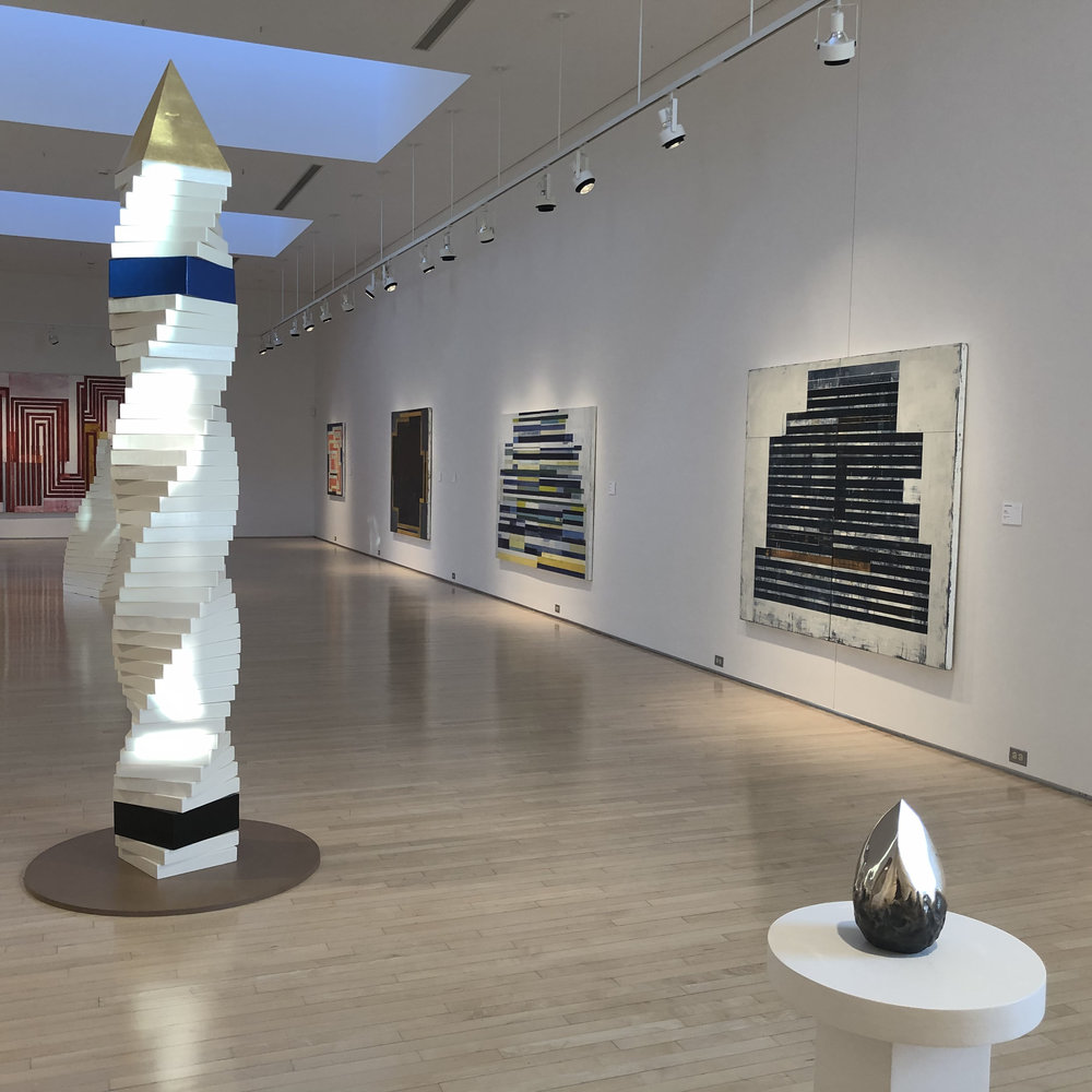 Michael Cochran sculptures and Lloyd Martin paintings