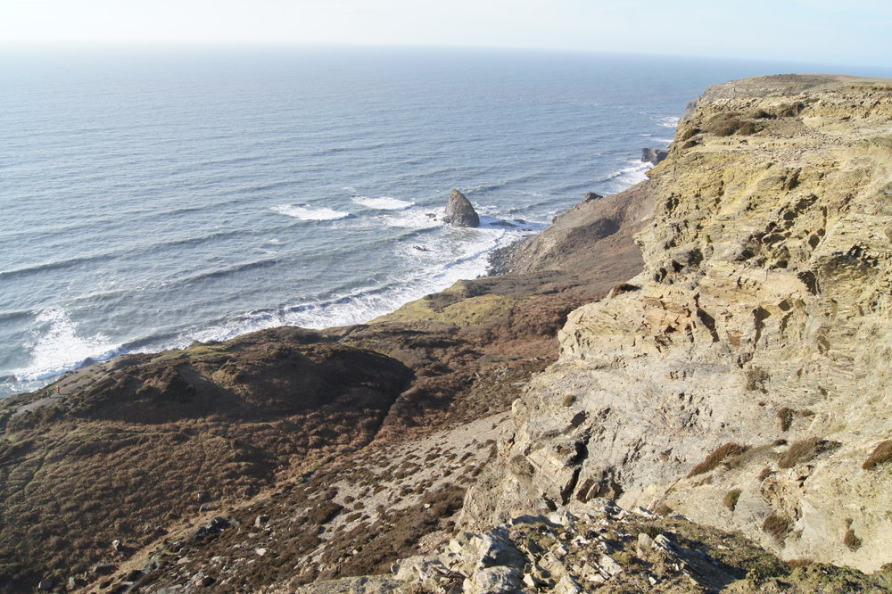 Some spectacular views as you walk along cliff tops
