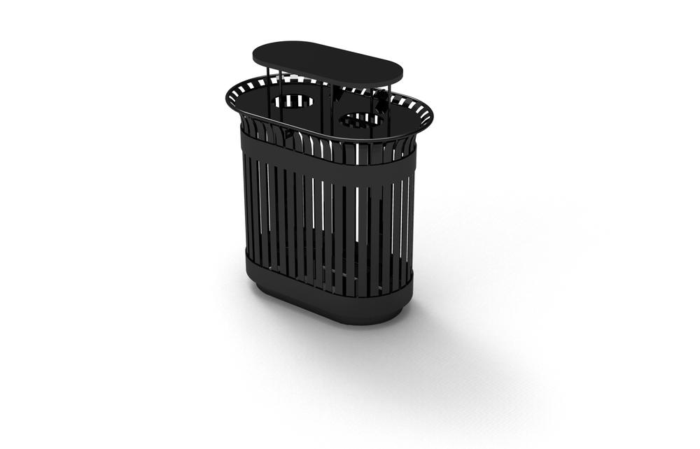 Double Wide Steel Waste Bin