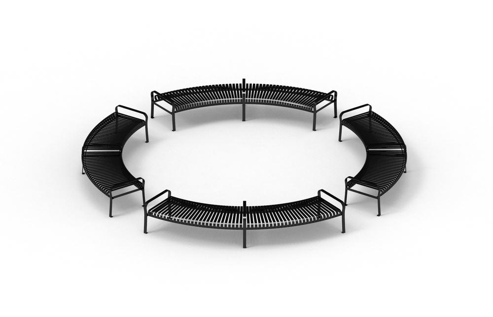 Semi-cirle Benches