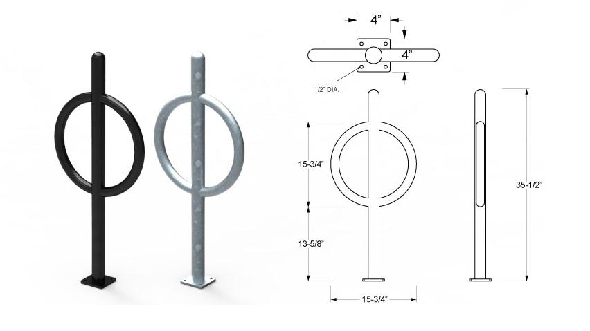Post & Ring Bike Rack