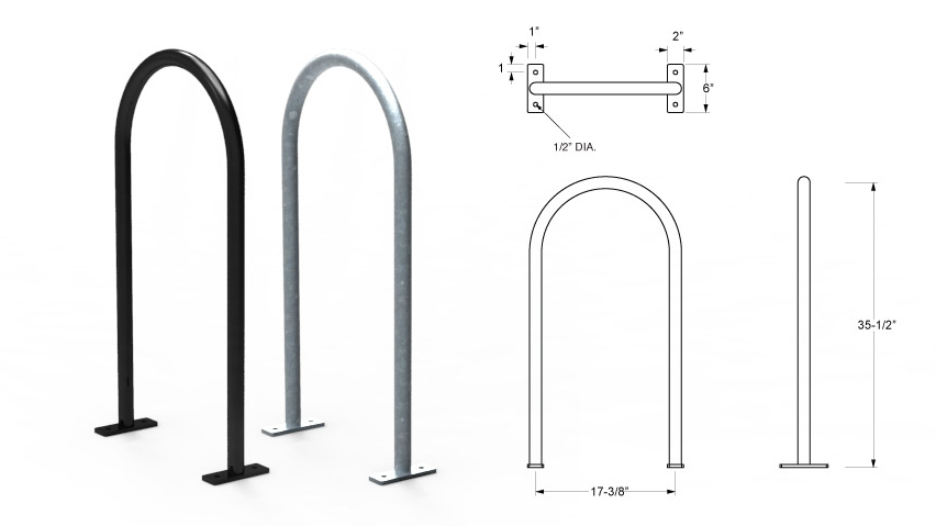 Inverted U Bike Rack