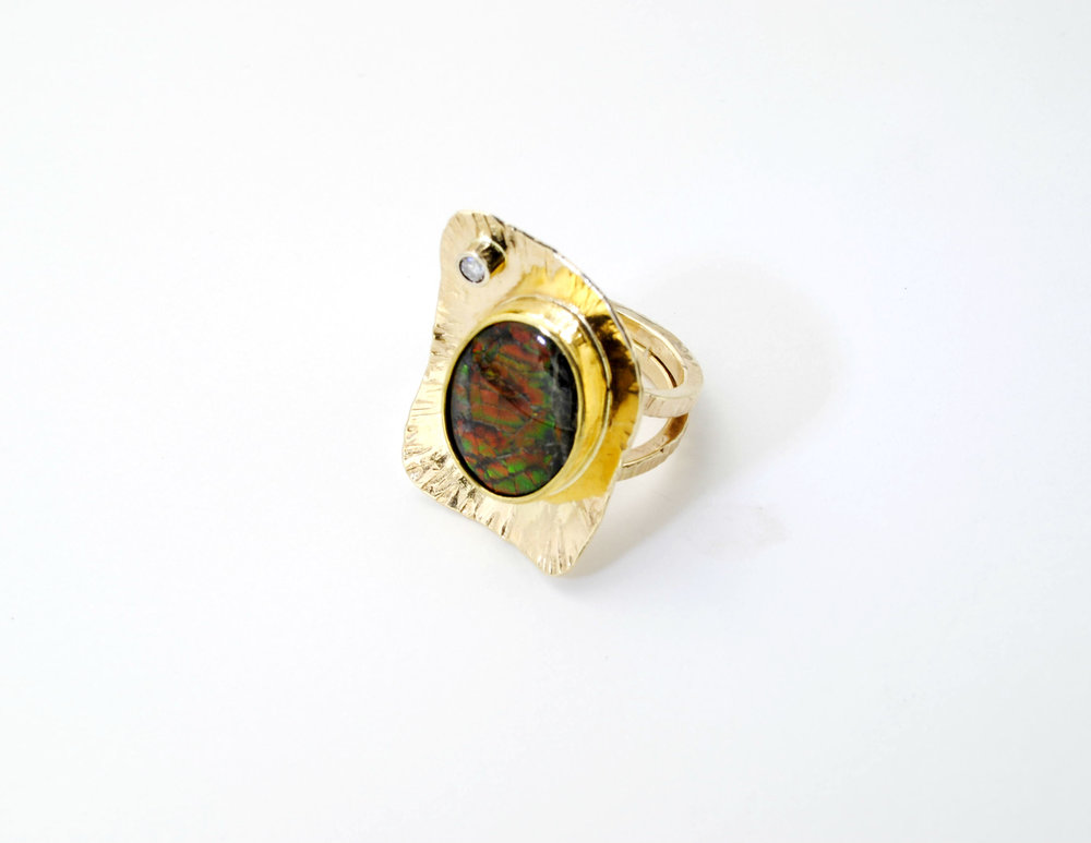 22K 14K Ammolite Diamond ring.jpg