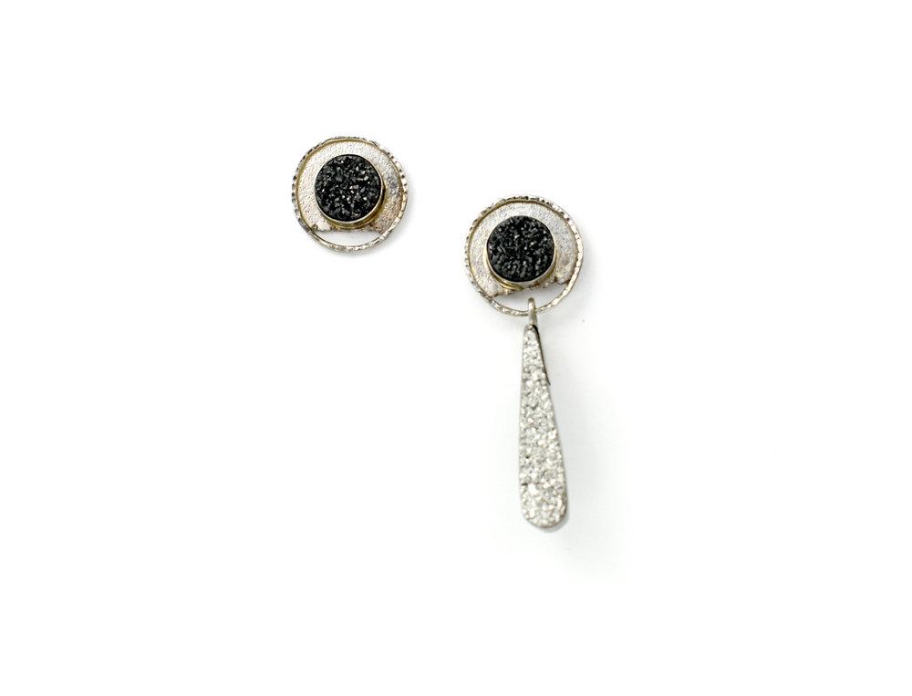 14k wg Plat & Blk Drusy Earrings with Removable Plat Drusy 2.jpg