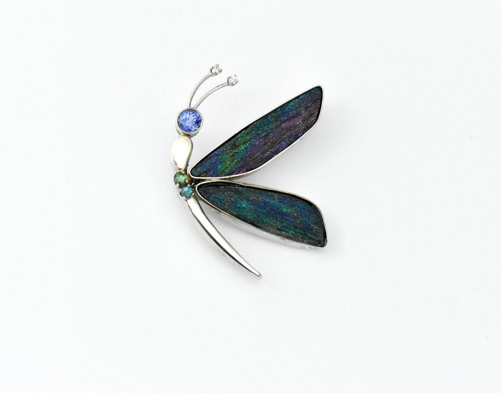 Dragonfly Hemitite and 6 stone pin.jpg