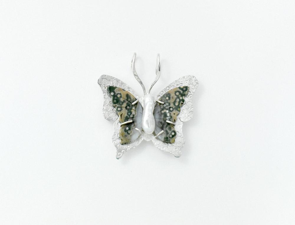 Jasper Pearl Butterfly pin pendant.jpg
