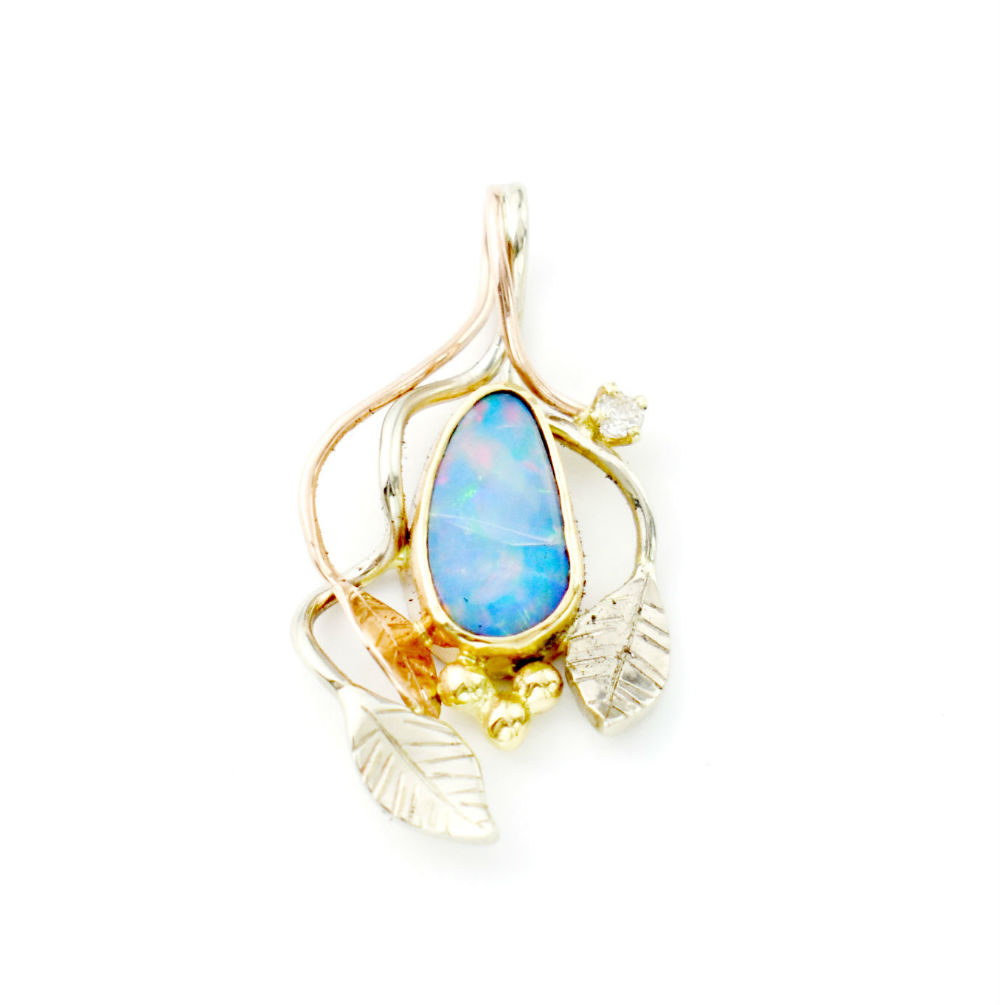 Tri Color Organic Opal Diamond Pendant 2.jpg