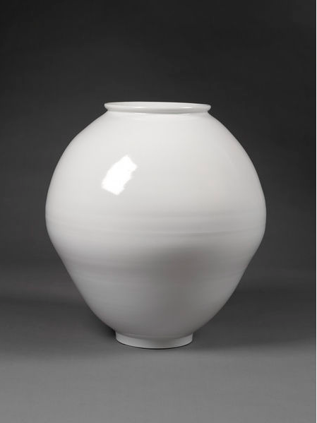 Young Sook Park  White Porcelain Moon Jar | 2008  Sasong-dong, South Korea  FE.115-2009   On Permanent View: Korea Gallery, Room 47g, case 16