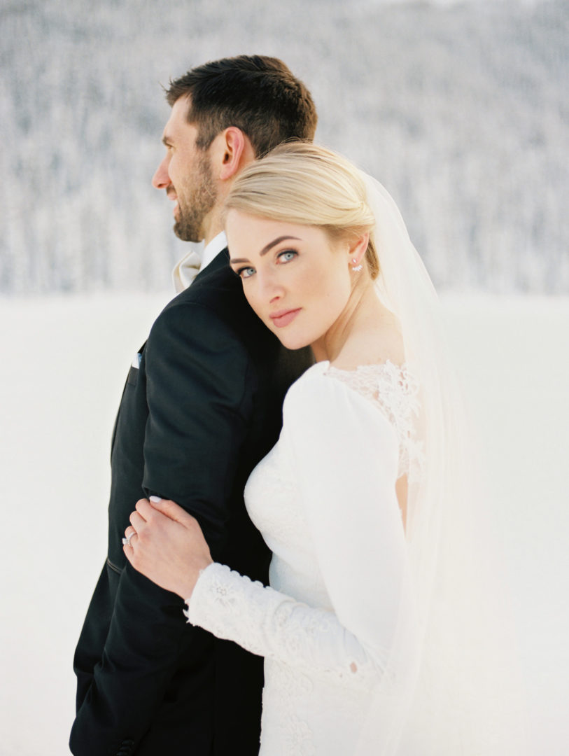 Julianne in Pronovias || Corrina Walker Photography || Chateau Lake Louise