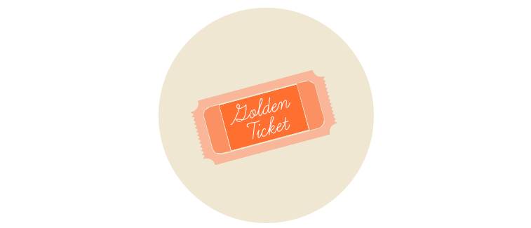 golden ticket icon nineteen54