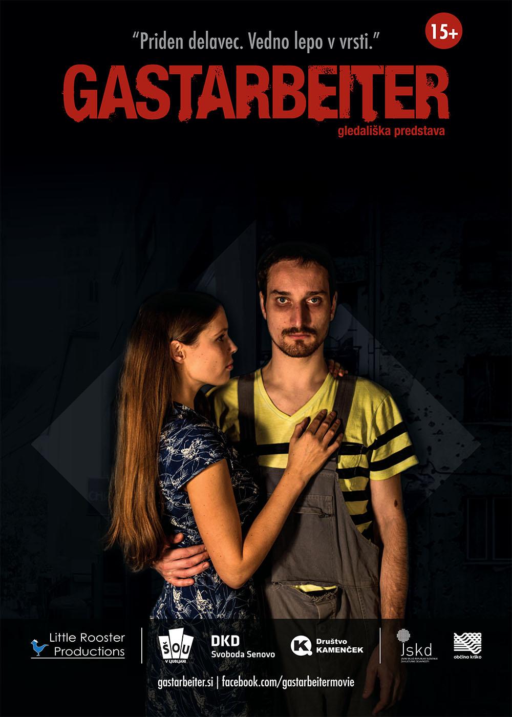 Gastarbeiter gledališka plakat