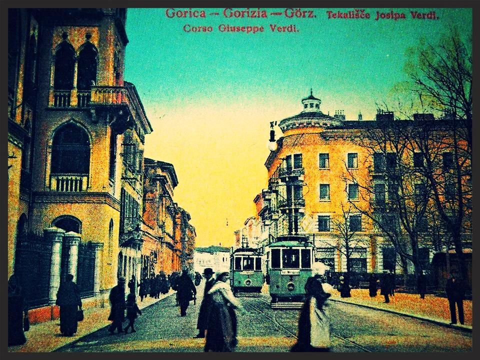 Gorica/Görz/Gorizia/Guriza, pred vojno; vir: Alberto Bertolini, Si iz Goriške če...
