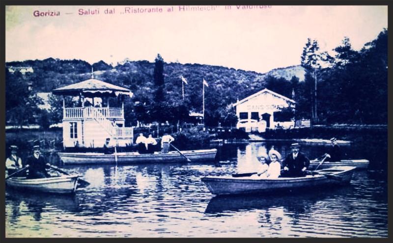 Rožna dolina, Gorica, pred 1. svetovno vojno; vir: Alberto Bertolini, Si iz Goriške, če...