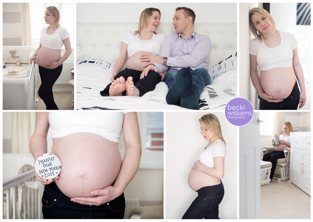 Maternity Photo Shoot at home