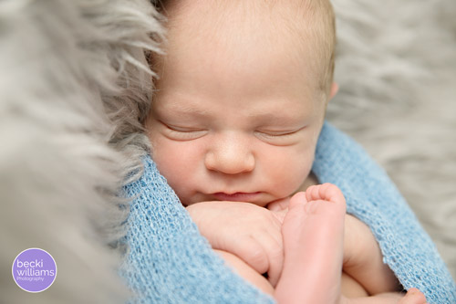 Newborn Photo Shoot Hemel Hempstead - Fur, blue