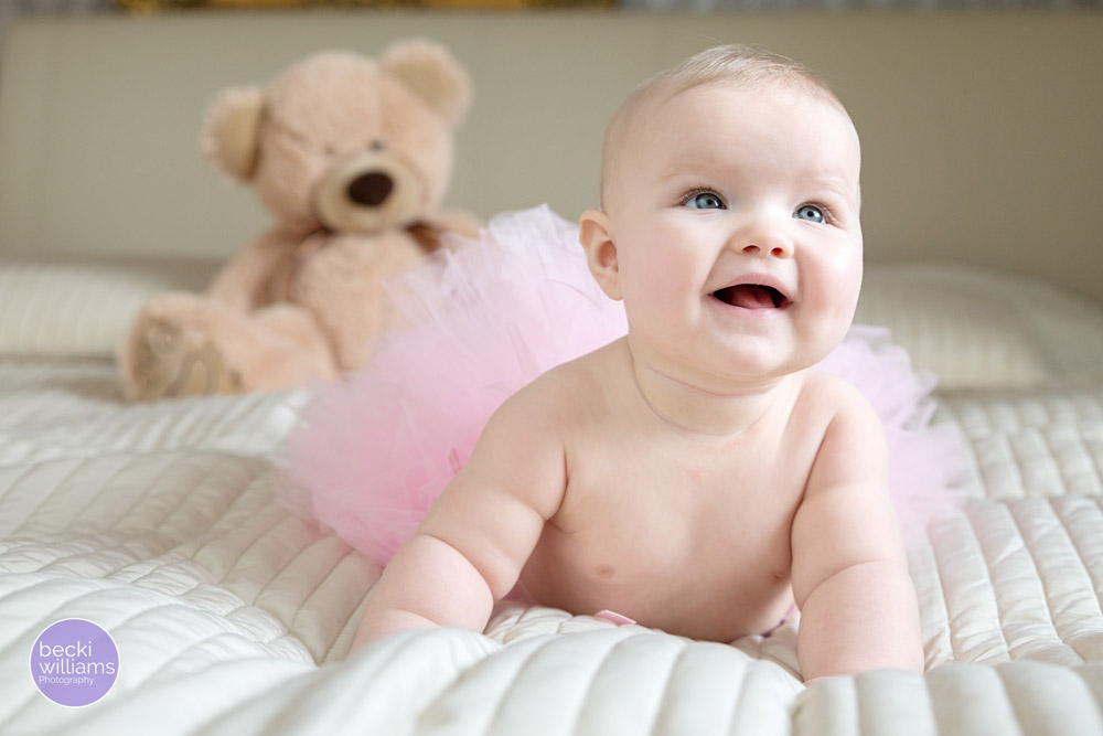Baby Photos Hemel Hempstead - pink tutu, teddy, smiles
