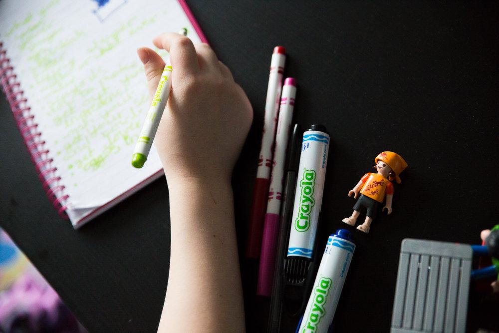 Child Photography Hemel Hempstead Coloured Pens