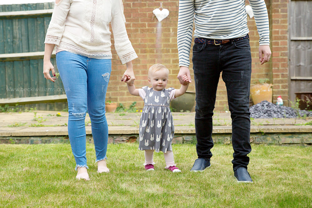 family photography in the garden in luton