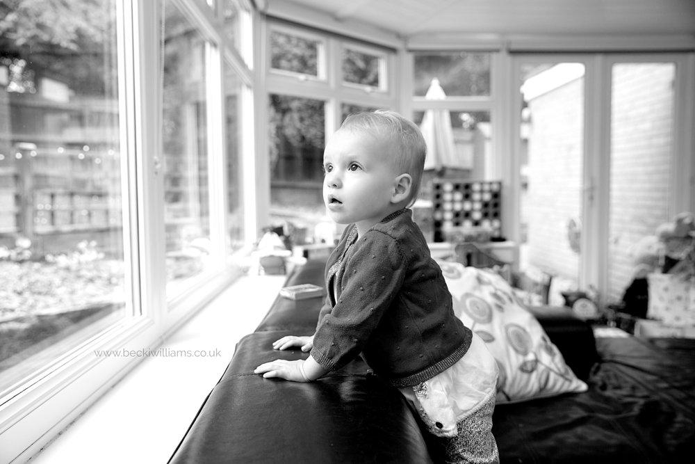 1 year old having professional photos taken in Hemel Hempstead