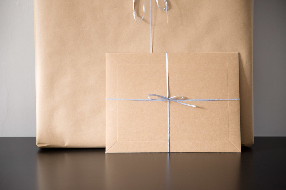 professional photography products wrapped and ready to deliver