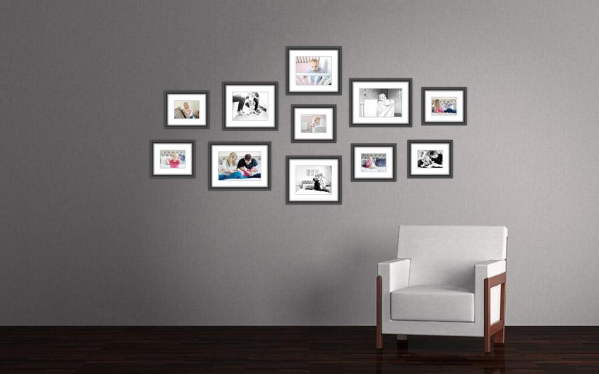 Baby photography gallery wall, Hemel Hempstead