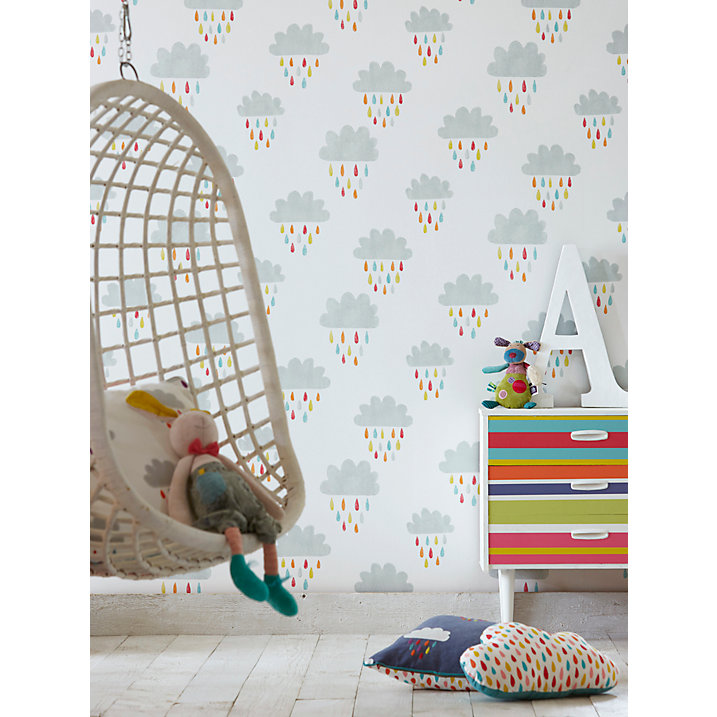 John lewis children's wallpaper for a colourful nursery