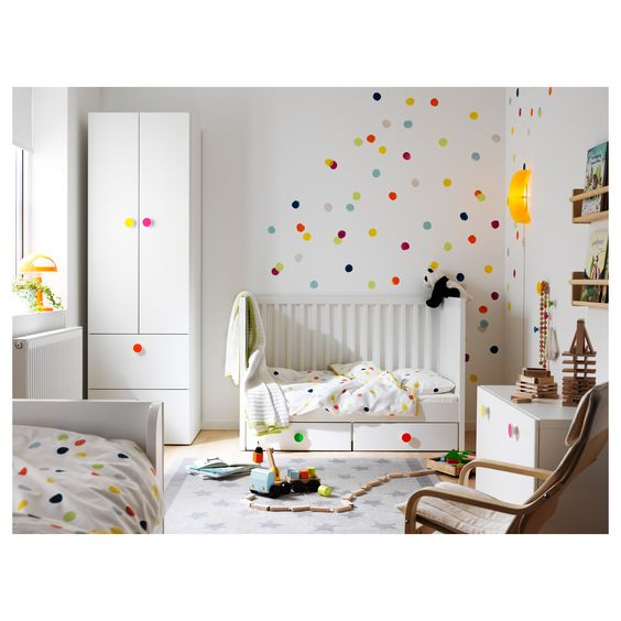 colourful ikea nursery
